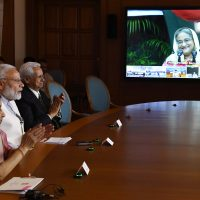 PM Modi, Bangladesh PM Sheikh Hasina, CMs of West Bengal and Tripura, jointly dedicate three projects in Bangladesh