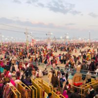 Over one crore devotees take holy dip on the fifth bathing festival of the Kumbh on Maghi Purnima