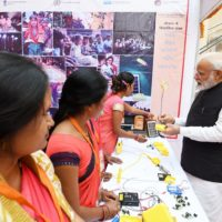 PM Modi attends the National Women Livelihood Meet at Varanasi