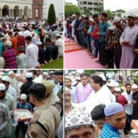 Thousands turn out to offer Eid prayers peacefully across Jammu and Kashmir