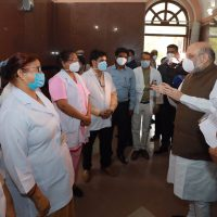 To Review Arrangements Related to COVID-19, Amit Shah Pays Surprise Visit to LNJP Hospital